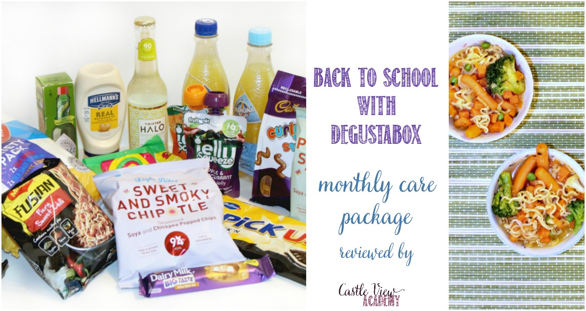 The back to school Degustabox is a care package at Castle View Academy
