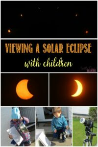 Viewing a solar eclipse with children with Castle View Academy homeschool