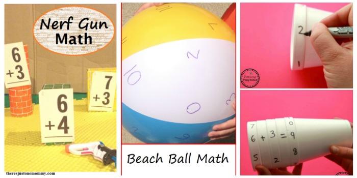 fun summer math at Castle View Academy homeschool
