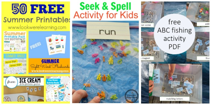 learning to read summer activities at Castle View Academy homeschool