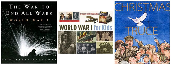 Books about World War I for kids at Castle View Academy homeschool