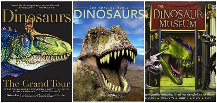 Books about dinosaurs for kids at Castle View Academy homeschool