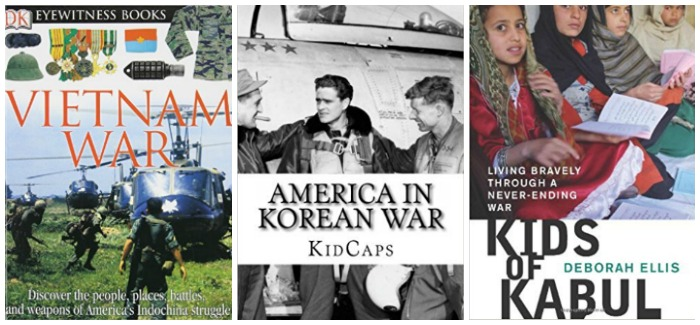 Books about war for kids at Castle View Academy homeschool