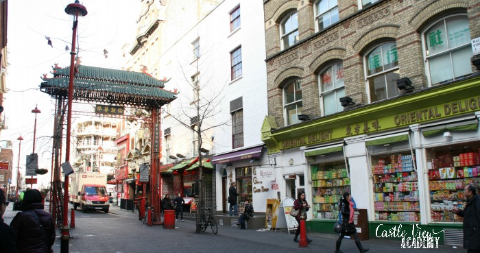 China Town in London, England with Castle View Academy homeschool
