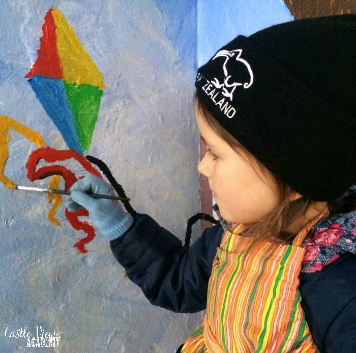 Community Art for all ages for Castle View Academy homeschool