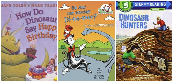 Dinosaur story books for kids at Castle View Academy homeschool