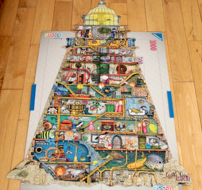 Ludicrous Lighthouse puzzle is done at Castle View Academy