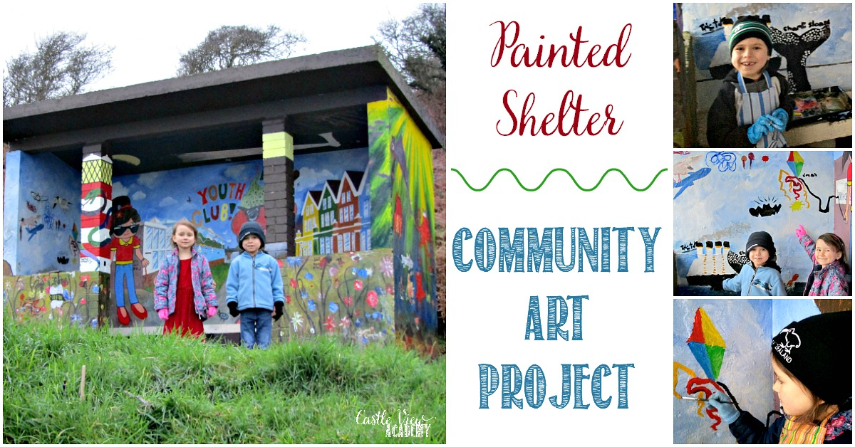Painted Shelter Community Art Project and Castle View Academy homeschool