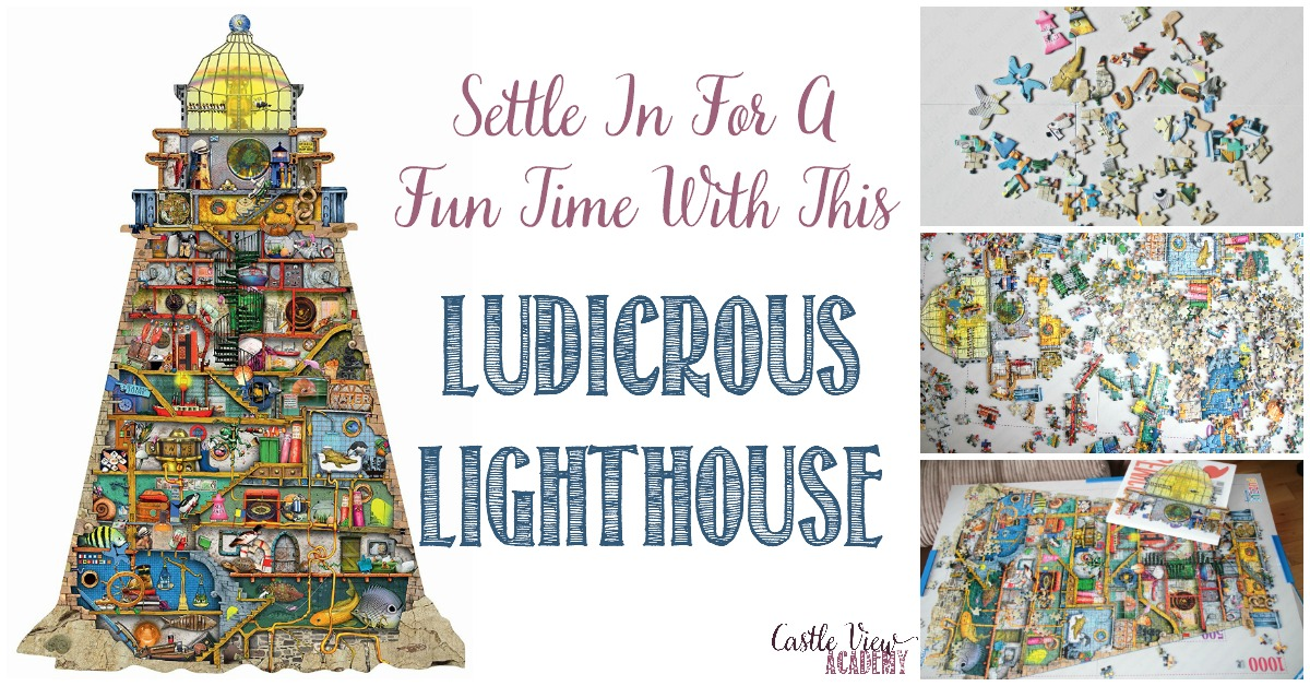 Settle In For A Fun Time With This Ludicrous Lighthouse puzzle by Ravensburger with Castle View Academy
