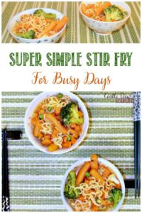 Super Simple Stir Fry For Busy Days by Castle View Academy homeschool