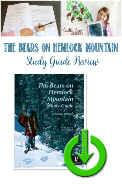 The Bears on Hemlock Mountain E-Guide Review by Castle View Academy homeschool