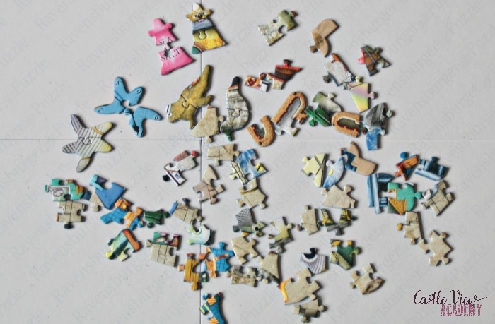 Unique jigsaw puzzle shapes