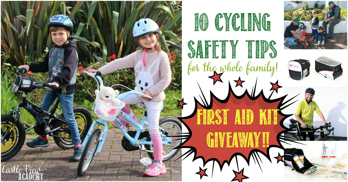 10 Cycling Safety tips for the whole family and a giveaway at Castle View Academy