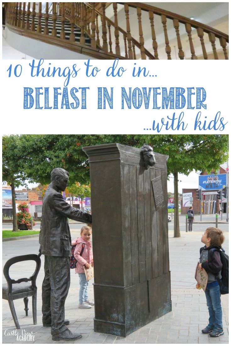 As we've been doing for the past several months, we're sharing a list of some of the top things to do in and around Belfast in November with kids and Castle View Academy homeschool