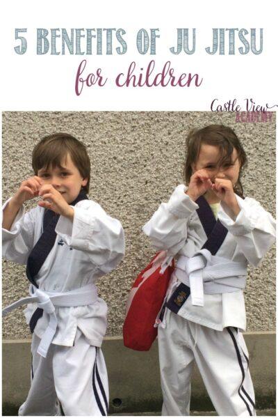 5 benefits of Ju Jitsu for children at Castle View Academy homeschool