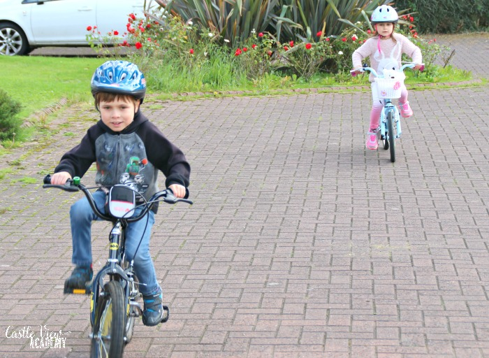 Bicycle safety at Castle View Academy homeschool