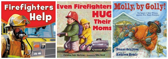 Books about firefighters for young kids at Castle View Academy homeschool