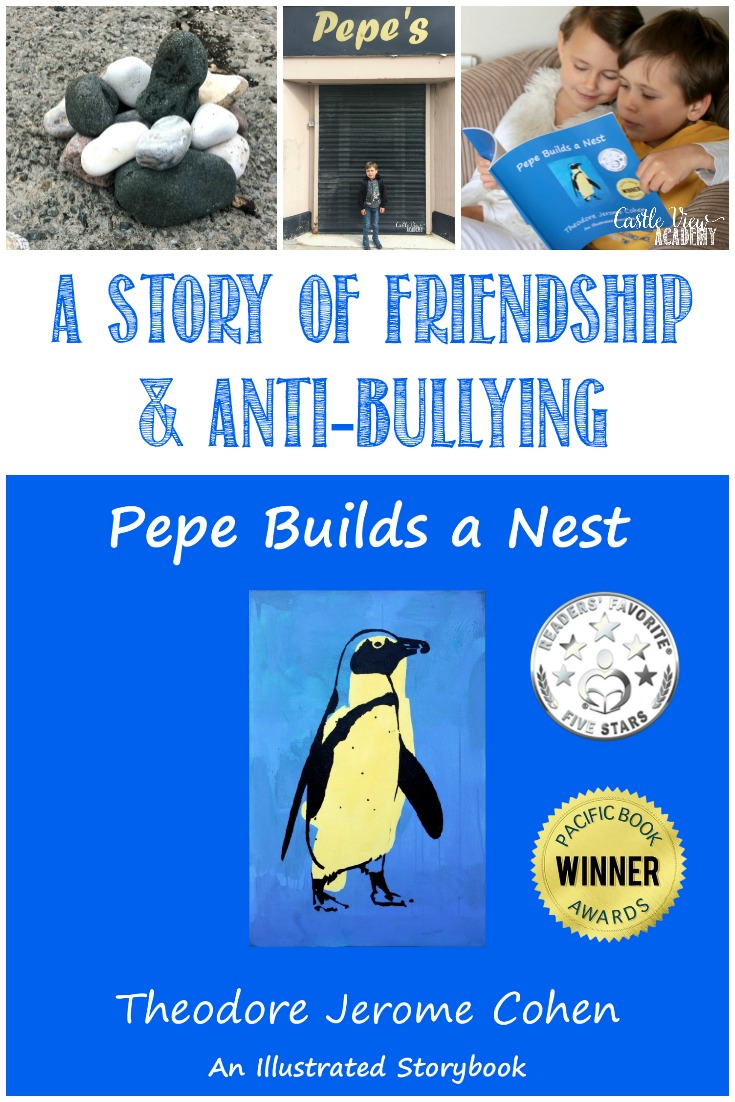 Building a rock nest, a review by Castle View Academy homeschool, A Story of Friendship & Anti-Bullying
