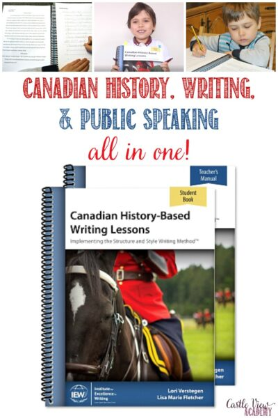 Castle View Academy homeschool reviews IEW Canadian History-Based Writing Lessons