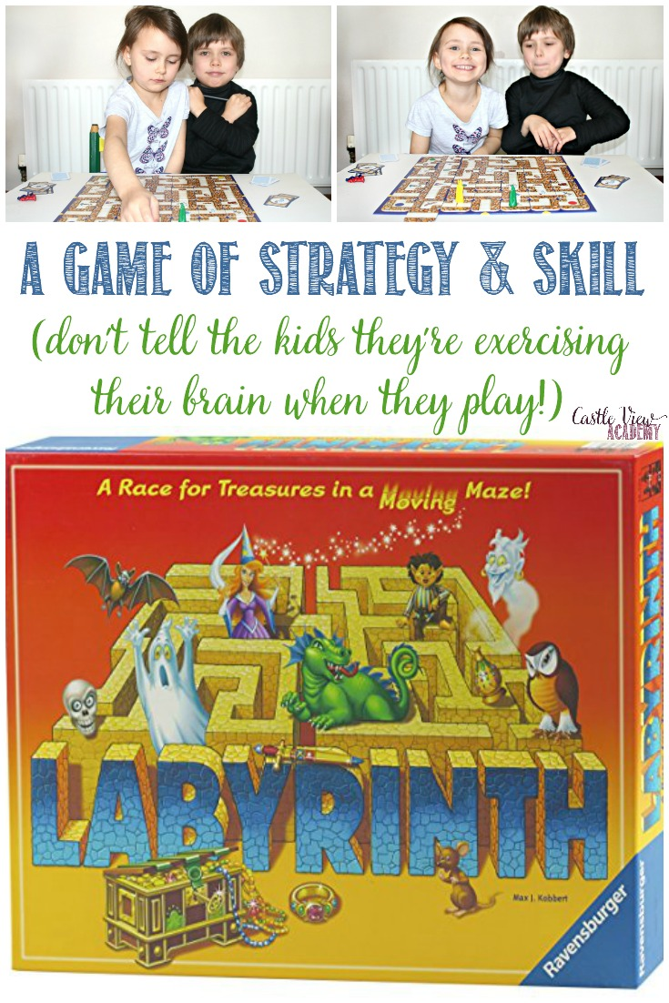 Castle View Academy homeschool reviews Labrynth, a game of strategy and skill