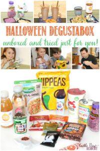 Castle View Academy homeschool unboxes the Halloween Degustabox