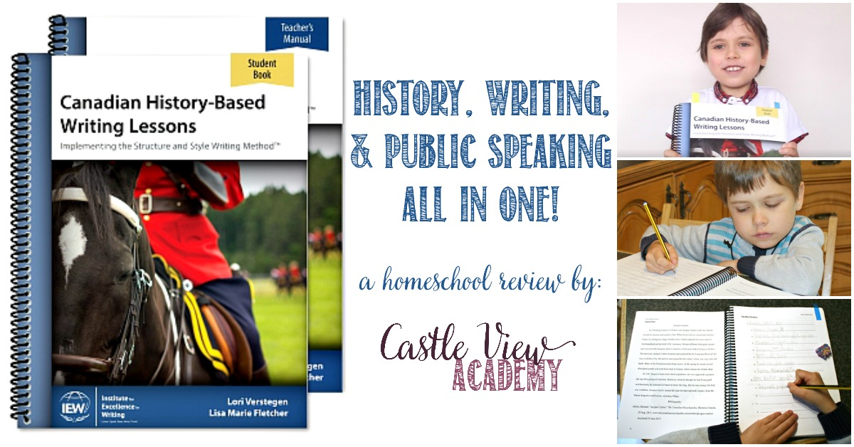 Castle View Academy reviews IEW Canadian History-Based Writing Lessons