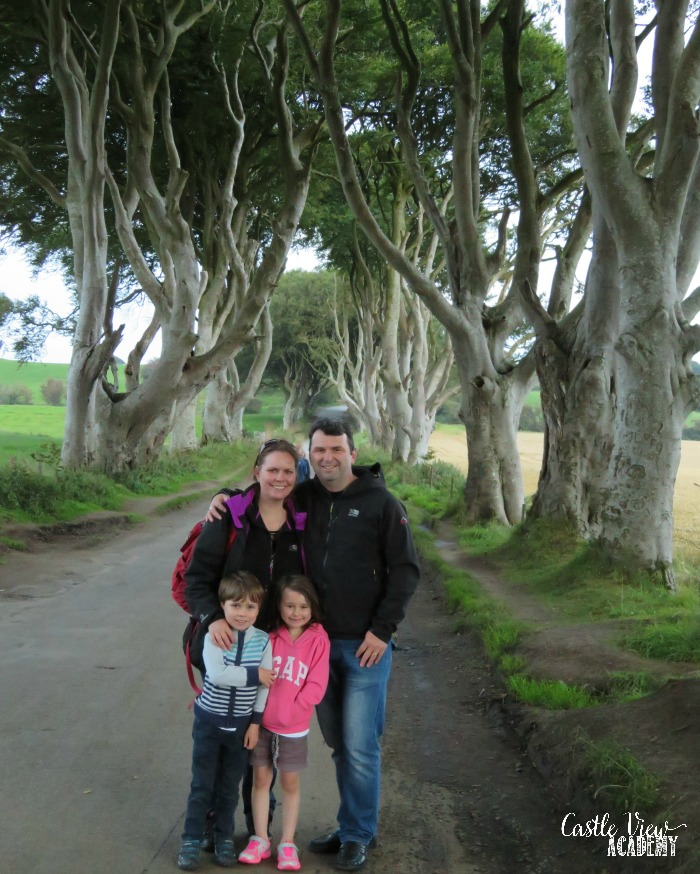 Castle View Academy visits the Dark Hedges, Northern Ireland