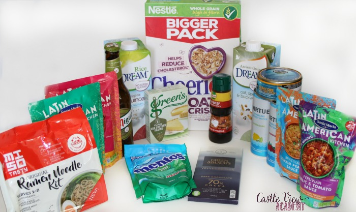 Contents of the September Degustabox as revealed by Castle View Academy