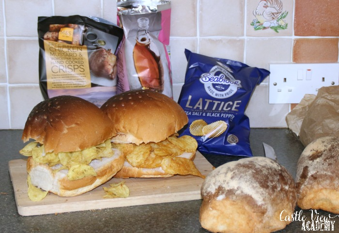 Different crisps and different Belfast Baps make for fun sandwiches at Castle View Academy
