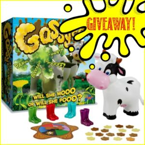 Giveaway of Gassy The Cow at Castle View Academy homeschool
