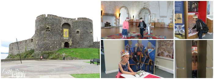 Hands-on learning at Carrickfergus Castle and Homeschool In The Woods with Castle View Academy homeschool