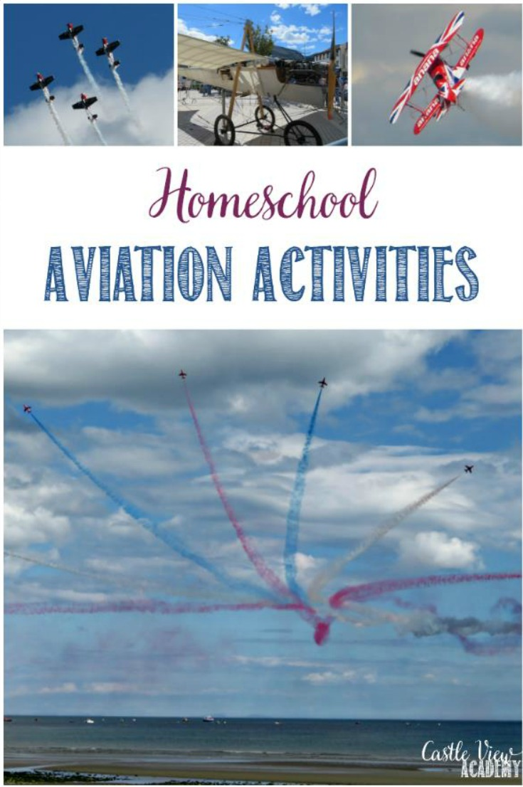 Homeschool aviation unit studies have been in full swing this year using various resources and activities that have landed on us recently with awesome timing at Castle View Academy homeschool