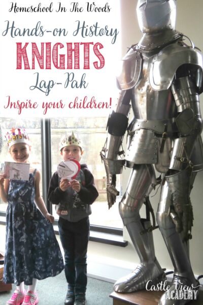Inspire your children with this hands-on history Knight Lap-Pak, a review by Castle View Academy homeschool