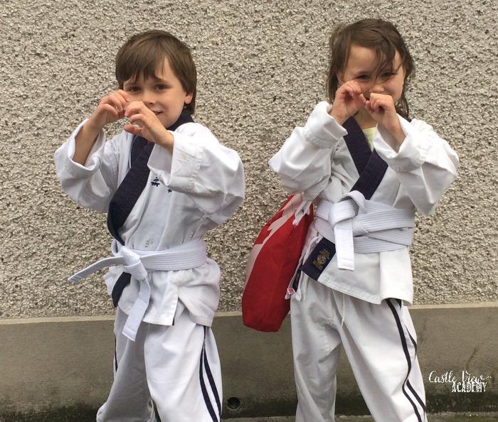 Ju Jitsu white belts at Castle View Academy homeschool