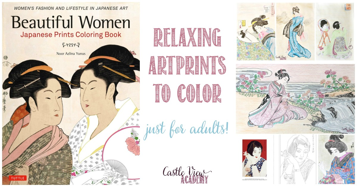 Relax with Japanese Prints Coloring of Beautiful Women, as loved by Castle View Academy