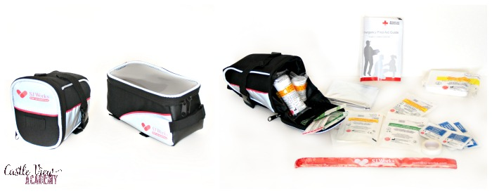 SJ Works bicycle first aid kits at Castle View Academy homeschool