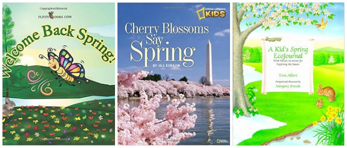 Spring books for kids at Castle View Academy homeschool