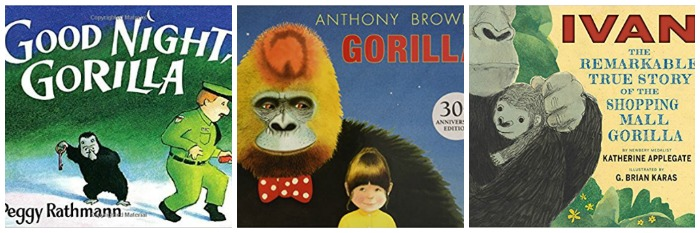 Storybooks with Gorillas at Castle View Academy homeschool