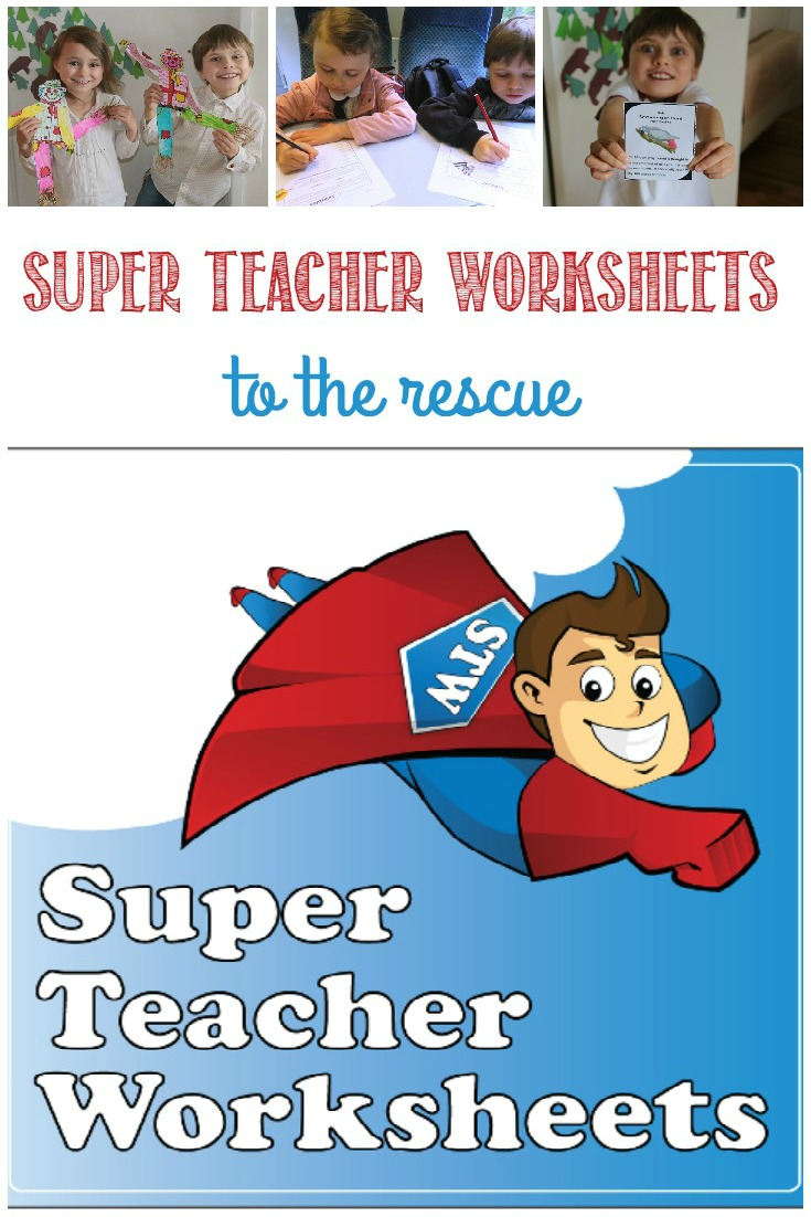 Super Teacher Worksheets to the rescue with more than just worksheets, reviewed by Castle View Academy homeschool