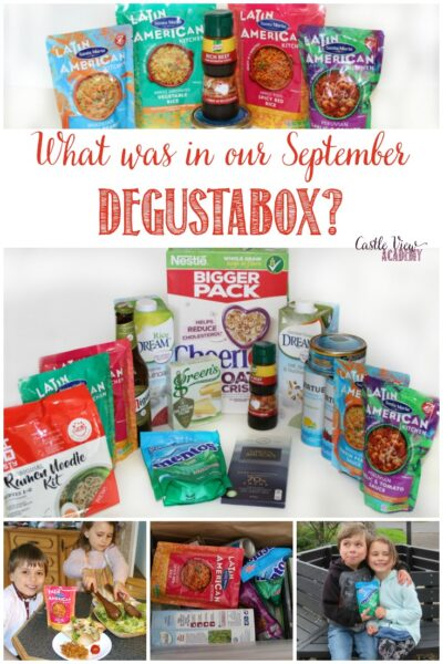 What was in our September Degustabox; a review by Castle View Academy homeschool
