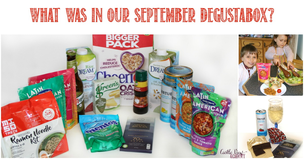 What was in our September Degustabox; a review by Castle View Academy