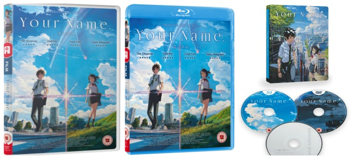 Your Name on DVD, Blu-Ray, and Steel Book
