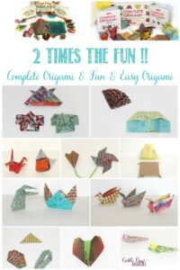 2 times the fun with these origami kits, reviews by Castle View Academy homeschool