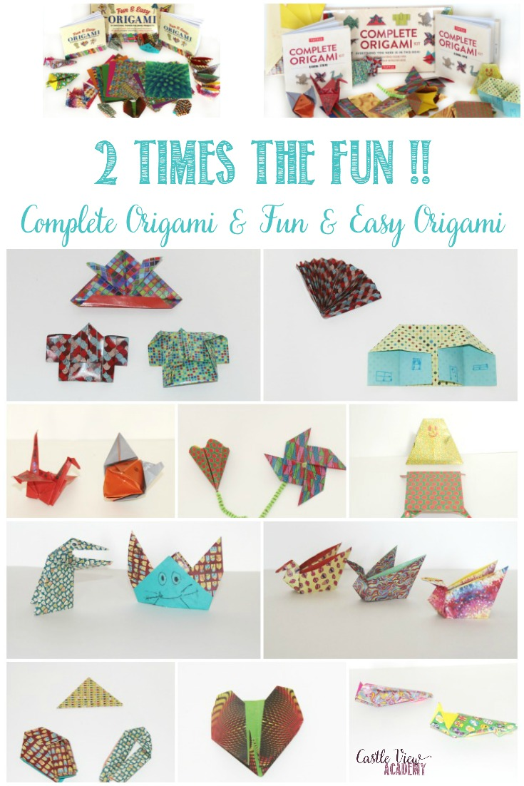 Two Times The Fun With These Origami Kits! Read on to find out how these paper crafts have created an entrepreneurial spark in my daughter! A review by Castle View Academy homeschool