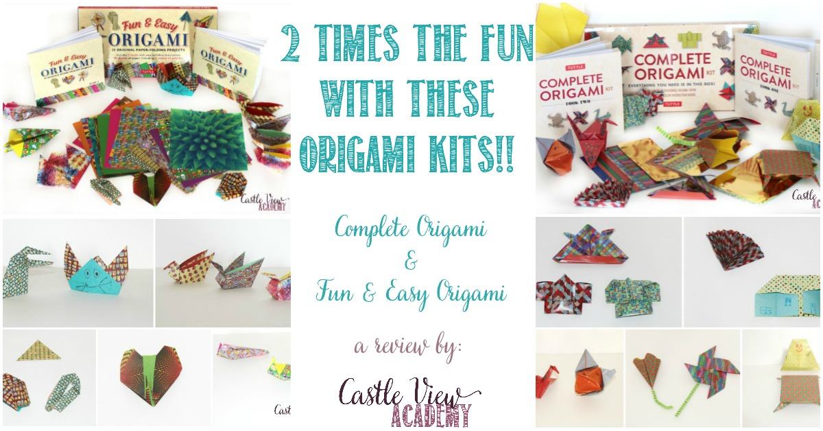 2 times the fun with these origami kits, reviews by Castle View Academy