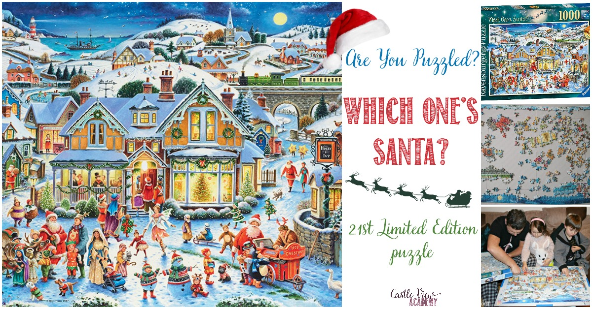 Are you puzzled, Which One's Santa, Castle View Academy homeschool reviews this puzzle
