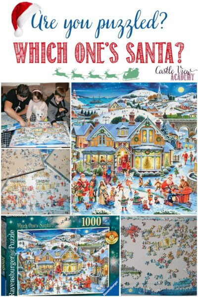Are you puzzled, Which One's Santa, Castle View Academy reviews this puzzle