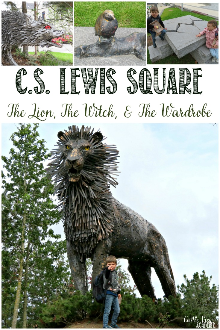 Discovering C.S. Lewis Square in Belfast (The Lion, the Witch and the Wardrobe), Castle View Academy homeschool explores.