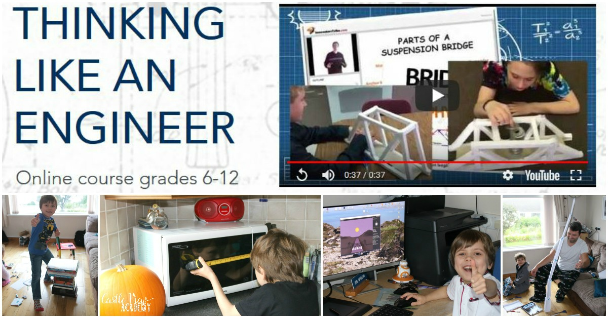 Castle View Academy homeschool reviews Thinking Like an Engineer by Innovator's Tribe