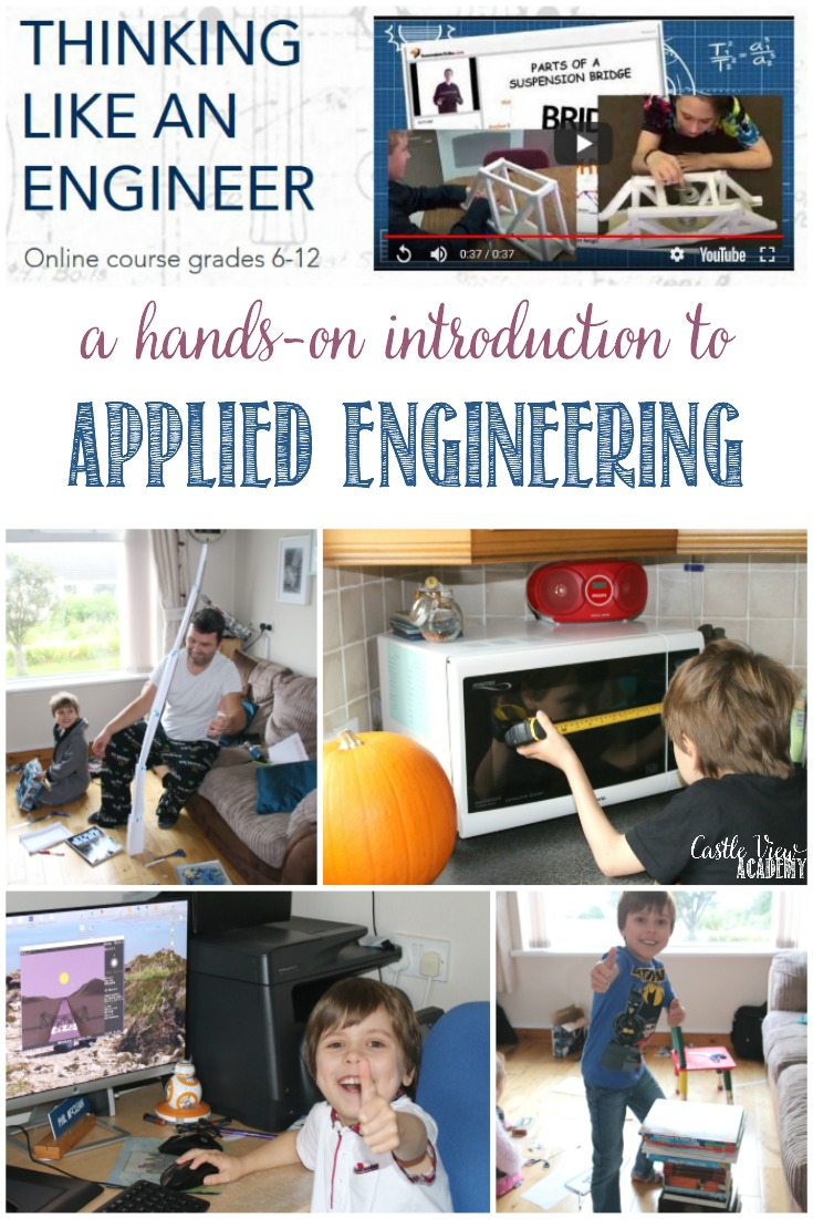 A Hands-On Introduction To Applied Engineering, Castle View Academy homeschool reviews Thinking Like an Engineer by Innovator's Tribe #Engineering #STEM
